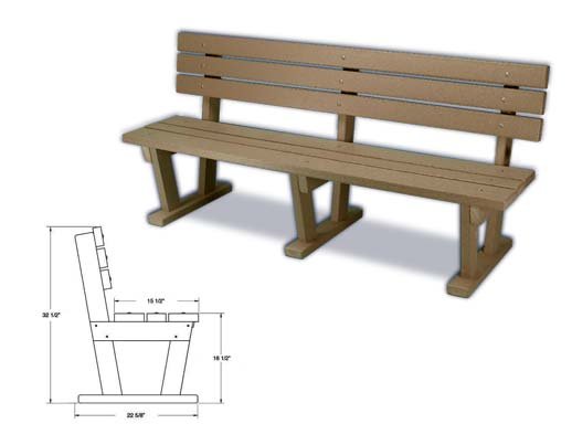 Bench With Backrest Automated Aquatics