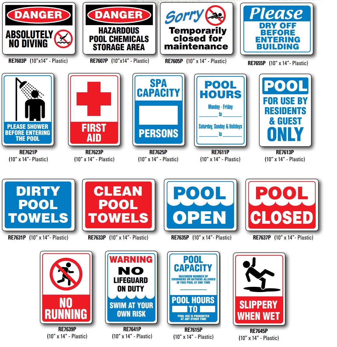 Pool Warning Signs Automated Aquatics